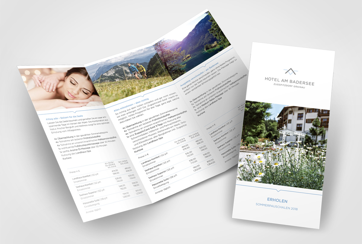 Hotel am Badersee - Flyer