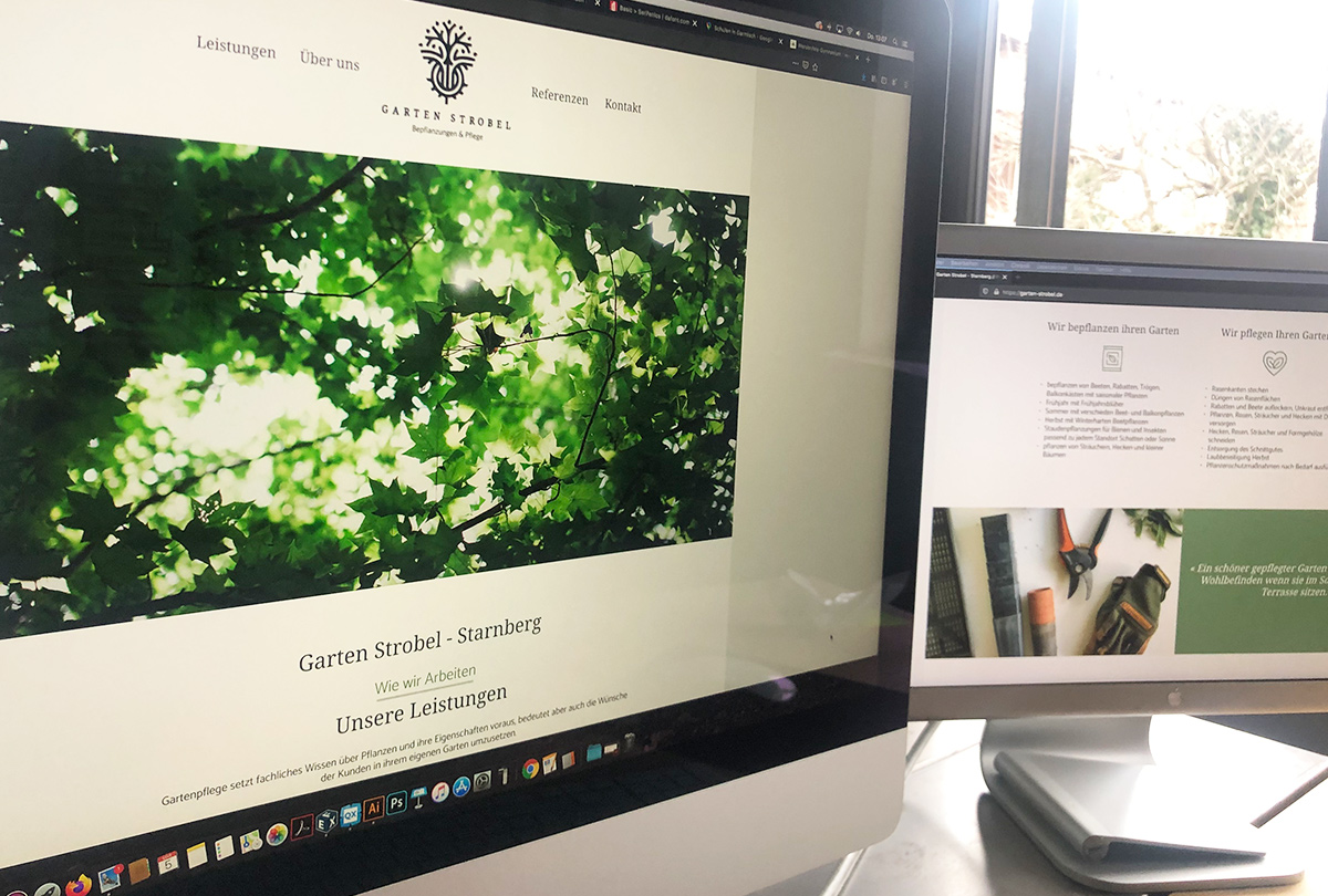 Garten Strobel – Website